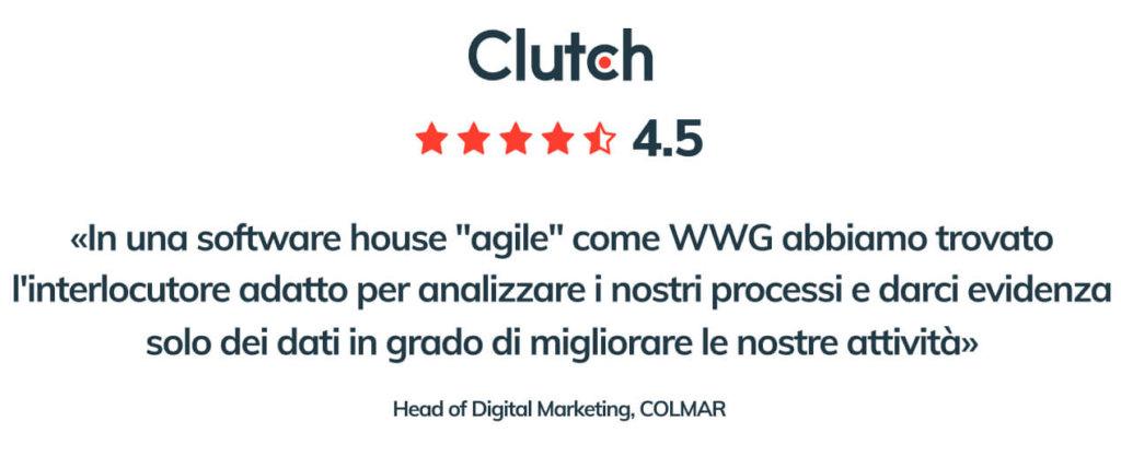 Blog post 2 inside Per CLUTCH.CO WWG è tra le migliori software house italiane in ambito sviluppo web, servizi IT e sviluppo app