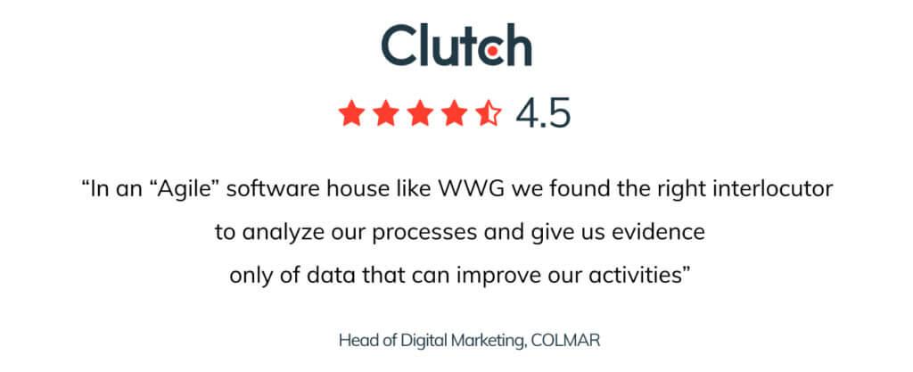Blog post 2 inside 1 WWG is Clutch top B2B companies 2021