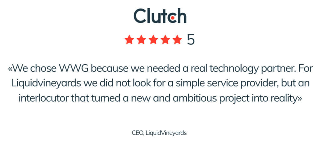 Blog post 3 inside For CLUTCH.CO WWG is one of the best Italian software house in the field of web development, IT services and app development